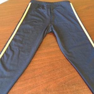 NWOT, ADIDAS W/3 STRIPS LEGGING/JOGGER PANTS